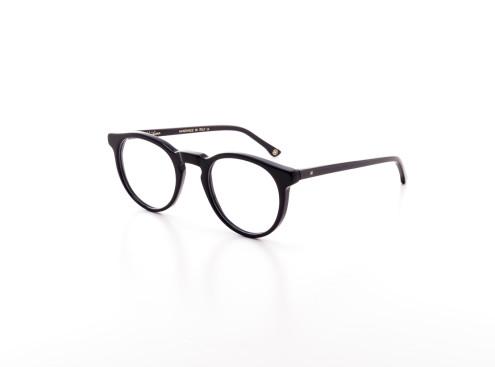 occhiale da vista montatura sottile nera ed elegante da tutti i giorni
