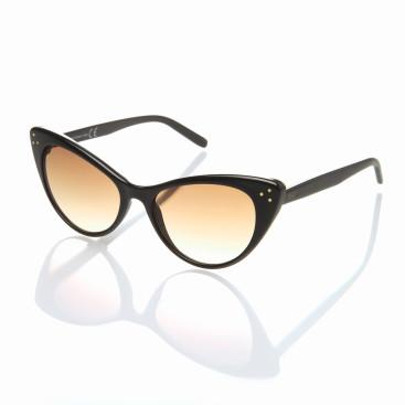 occhiale sole donna lenti anti-appannamento specchiate aranciate montatura scura