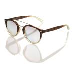 occhiale sole unisex montatura bicolor lenti fotocromatiche specchiate