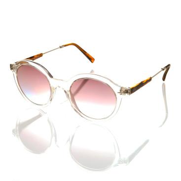 occhiale sole donna montatura trasparente lenti sottili specchiate