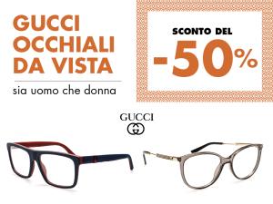 Comincia l'anno con le promo su occhiali da vista Gucci